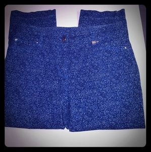 Tan Jay Navy Blue and White Pants